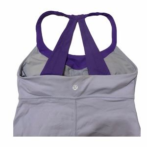Lululemon Women's Sexy Yoga Purple Tank Top